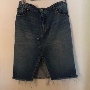 H&M midi denim skirt size 14